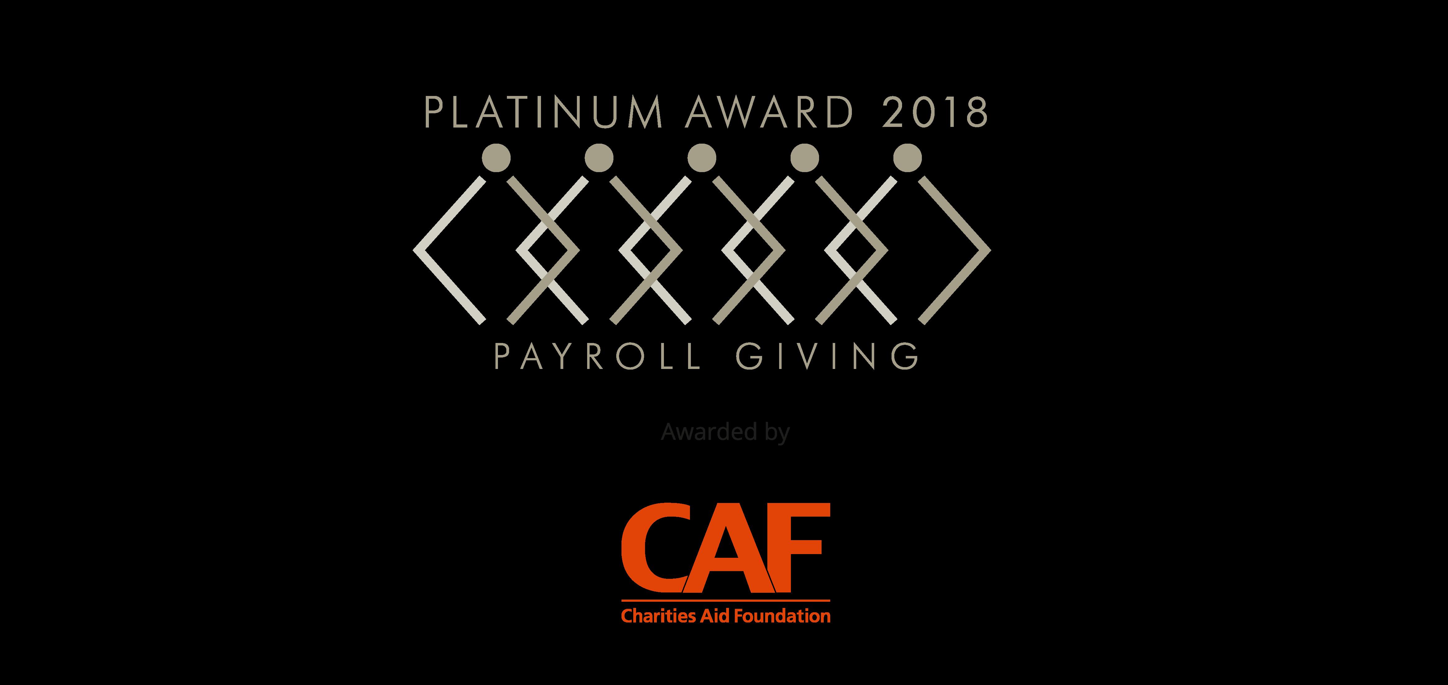 Platinum Payroll Giving Logo