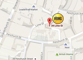 ARAG London office map