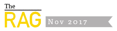 The RAG news bulletin footer november 2017